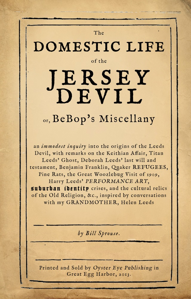 The Domestic Life of the New Jersey Devil - preliminary cover